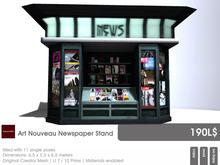 22769 ~ [bauwerk] Art Nouveau Newspaper Stand