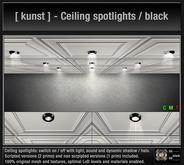 [ kunst ] - Ceiling spotlights / black