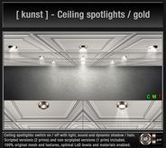 [ kunst ] - Ceiling spotlights / gold