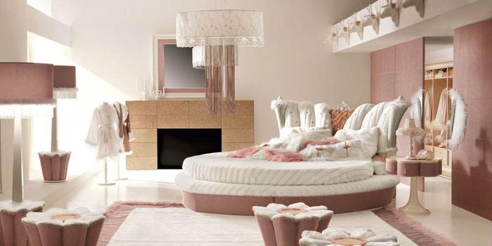 Pink Bedroom Backdrop