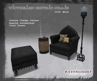 Victorian Gothic Chair and Table Ensemble (12 Prims TOTAL)