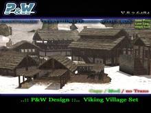 ..:: P&W Design ::..  Viking Village Set