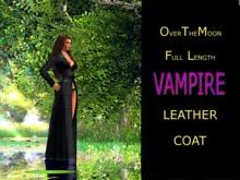 VAMPIRE FULL LENGTH LEATHER COAT MESH