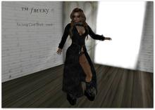 Fur Long Coat Black - mesh - (tm) Freeky