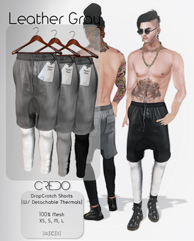 CREDO / DropCrotch_Leather_Gray(Pack)