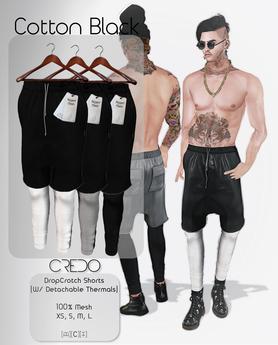 CREDO / DropCrotch_Cotton_Black(Pack)