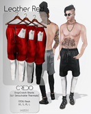 CREDO / DropCrotch_Leather_Red(Pack)