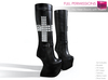 Full Perm Mesh No Heel Boots with Rivets