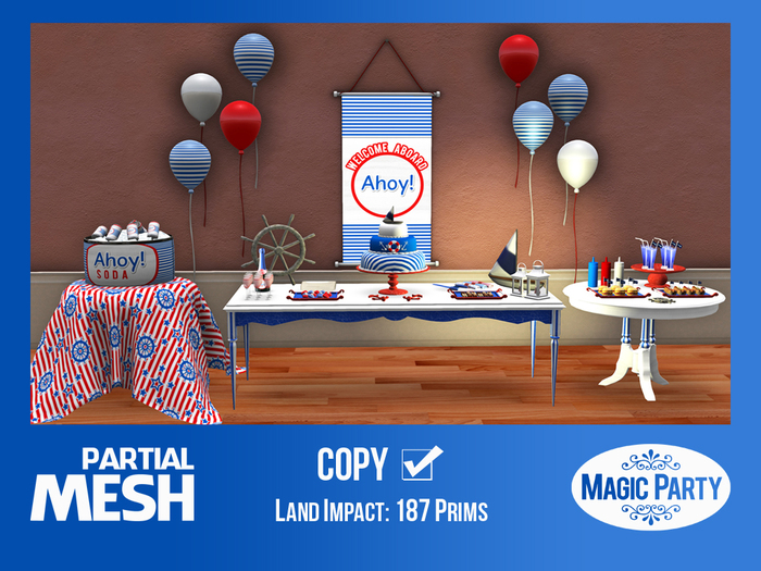Birthday - Nautical SET [Partial Mesh]