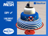 Birthday - Nautical ::: Ahoy Cake [Partial Mesh]