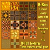 k-boo thanks giving wrapping paper set 1