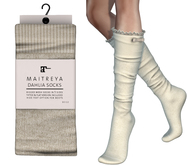 Maitreya Dahlia Socks * Beige