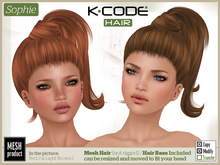 K-CODE SOPHIE Red - Mesh Hair
