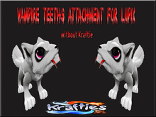 Krafties Vampire Teeth attachment for Lupix