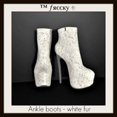 Ankle boots - white fur