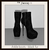 Ankle boots - black fur