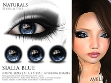 AVELINE Hybrid Eyes - Naturals - Sialia Blue