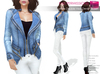Full Perm Rigged Mesh Ladies Double Vest Denim Jacket
