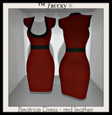 Beatrice Dress - red leather - (tm) Freeky