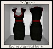 Beatrice Dress - black leather - (tm) Freeky