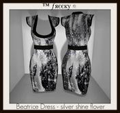 Beatrice Dress - silver shine flover - (tm) Freeky