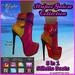 FREE PROMO - Iffyta Stripes Galore Stiletto Mesh Ankle Boots