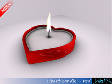 Alice P. - Heart candle red cm mesh