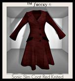 Sonic Slim Coat Red Knited - (tm) Freeky