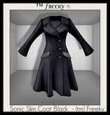 Sonic Slim Coat Black  - (tm) Freeky