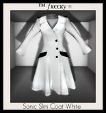 Sonic Slim Coat White  - (tm) Freeky