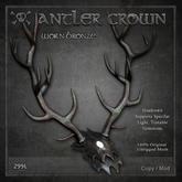 [The Forge] Antler Crown - Worn Bronze, Mesh