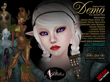 DEMO: Petites Female, tiny mesh avatars + Fallen Gods Inc.