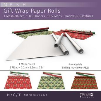 Trowix - Gift Wrap Paper Rolls Mesh Pack