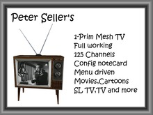 1 Prim Old Retro TV 2.2 Full working (Mesh,M+T)