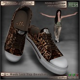~JJ~ Mesh Low Top Sneakers (canvas coffee)