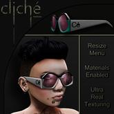 [CF] Starchild Glasses (white cyan)
