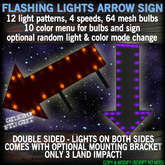 Animated Arrow Sign - 12 Flashing Light Patterns