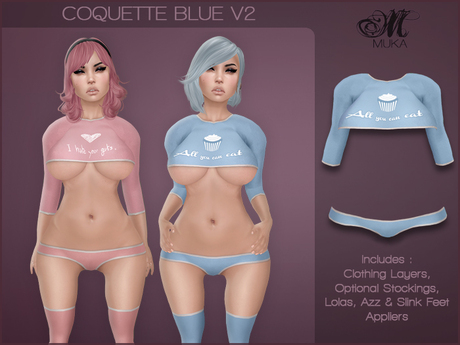 *MUKA* Coquette Blue v2 (Omega)