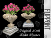 Heart Planter with Pink Flowering Shrub
