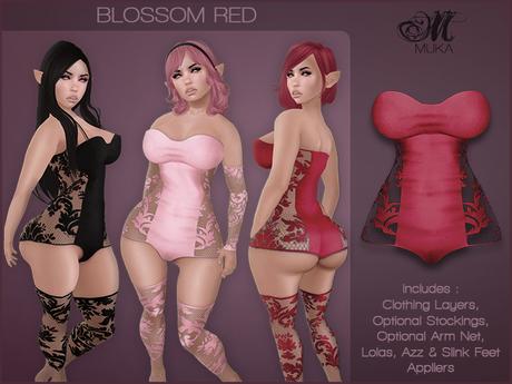 *MUKA* Blossom Red (Omega)