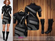 Bens Boutique -Mesh Tina Outfit Black