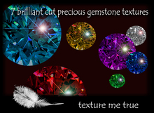 7 brilliant cut precious gemstone texture pack