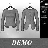 DE Designs - Split Back Sweater - DEMO