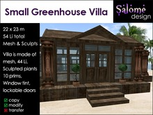 Small Greenhouse Villa for small parcels