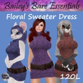 [LNL] Floral Sweater Dress 3-Pack