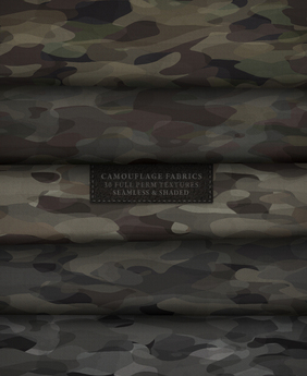 Camouflage Fabrics { 30 full perm fabric textures - seamless & shaded }