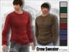 [Phunk] Mesh Men's Crew Sweater (8 Colors)