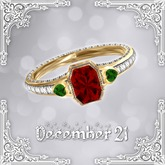 ::: Krystal ::: Simple Beauty - Ring - Gold - Christmas