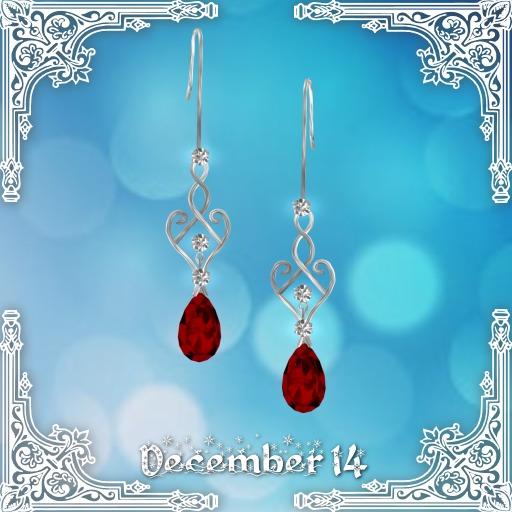 ::: Krystal ::: Eden - Earrings - Silver - Christmas