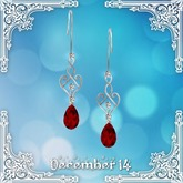 ::: Krystal ::: Eden - Earrings - Silver - Christmas